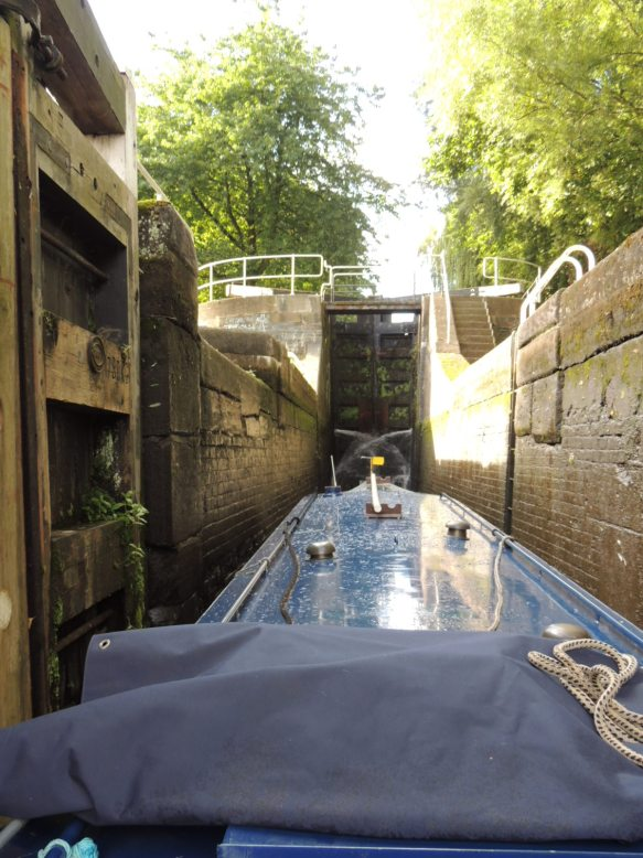 Entering the bottom of Staircase lock Stoke