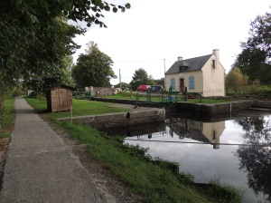 Lock on on the Nantes/Brest canal in Brittany